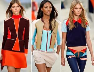Diseños de moda de neopreno del diseñador Tommy Hilfiger.