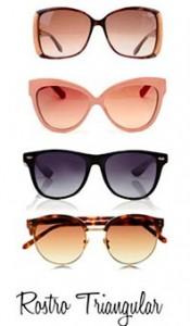 Gafas de sol rostro triangular