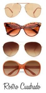 Gafas de sol para rostro cuadrado