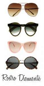 Gafas de sol para rostro en forma de diamante