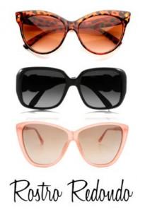 Gafas de sol para rostro redondo