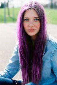 Pelo violeta