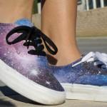 Zapatillas pintadas a mano galaxia