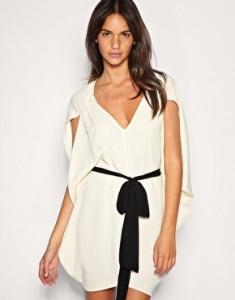 vestido blanco con lazo de Asos
