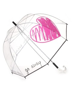 Paraguas transparente corazón Go Away