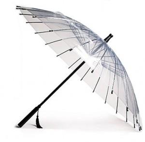 Paraguas transparente estilo oriental
