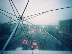 Visibilidad paraguas transparente
