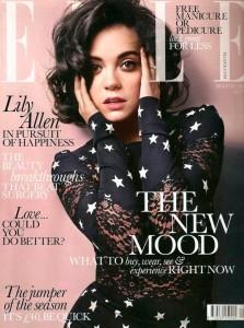 Lily Allen con stars print de Dolce Gabbana en la portada Elle de UK